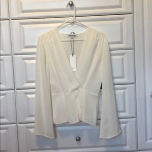 Elizabeth &James wrap silk blouse. NWT